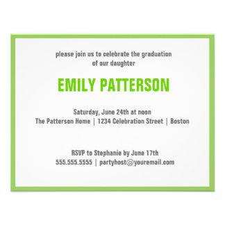 Photo Graduation Swirl Banner Invites