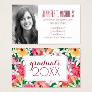 Photo Graduation | Tropical Hibiscus Business Card
