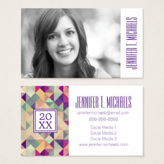 Photo Graduation | Vintage Hipsters Business Card