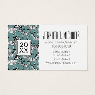 Photo Graduation | Zebra Pattern Business Card