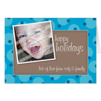 PHOTO GREETING CARD :: cheeky spotted 9
