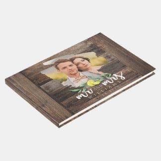 PHOTO GUEST BOOK | Rustic Wood Lemon Wedding