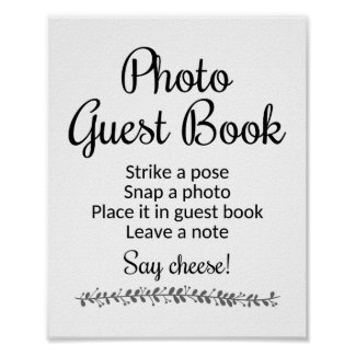 Photo Guest Book Wedding Sign - Rochester