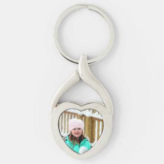 Photo Heart Key chain, gift for her, love Keychain