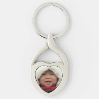 Photo Heart Shaped Keychain