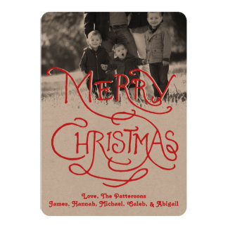 Photo Holiday Card: Artisan Kraft Merry Christmas Card