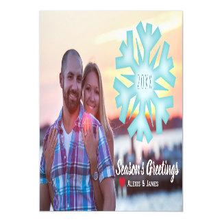 Photo Holiday Card Magnet - Snowflake
