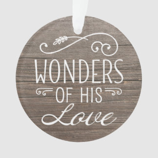 Photo Holiday Ornament | Wonders of His Love