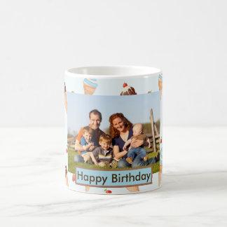 Photo Ice Cream Mug with Text