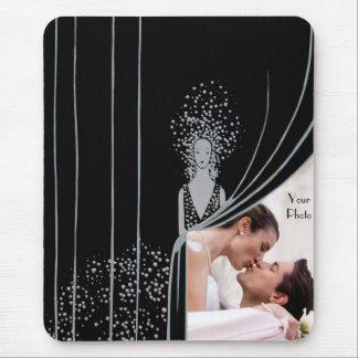 PHOTO Insert Curtain Fashion Plate Nouveau Mouse Pad