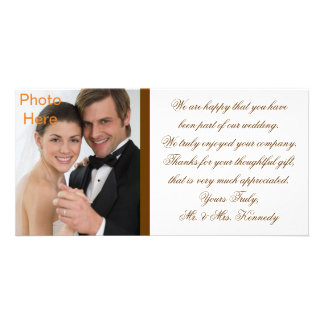 Photo Inserts Cards - Wedding Thank You Photo Card Template
