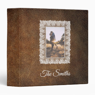 Photo Leather And Lace Look Album Binders