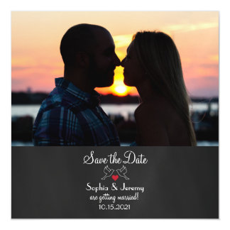 Photo Magnet Save the Date Magnetic Invitations