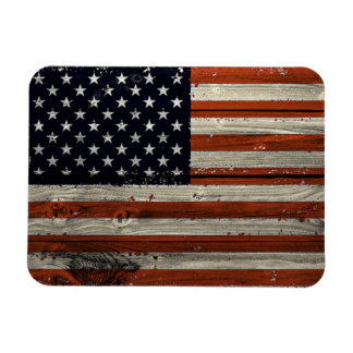 Photo Magnet with American Wood Flag Print