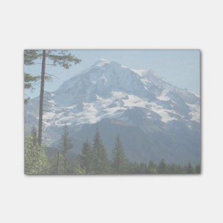 Photo majestueuse du mont Rainier Note Autocollante