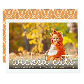 Photo mignonne mauvaise de Halloween Carton D'invitation 12,7 Cm X 17,78 Cm