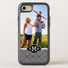 Photo & Monogram Geometric checked texture OtterBox Symmetry iPhone 8/7 Case