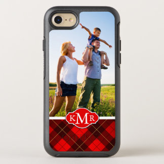 Photo & Monogram Wallace tartan background OtterBox Symmetry iPhone 8/7 Case