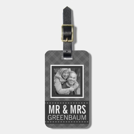 Photo Mr and Mrs Personalized Luggage Tag