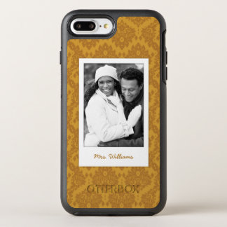 Photo & Name Luxury Golden Damask OtterBox Symmetry iPhone 7 Plus Case