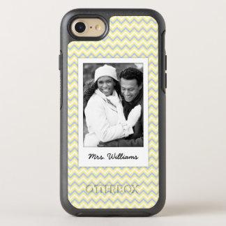 Photo & Name Pastel Chevron Pattern OtterBox Symmetry iPhone 7 Case