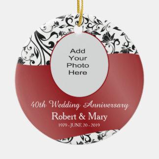 Photo noire de remous et d'anniversaire de mariage décoration pour sapin de noël