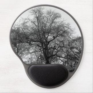 Photo noire et blanche de paysage tapis de souris avec gel