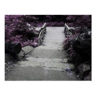 Photo noire et blanche de pont de paysage cartes postales