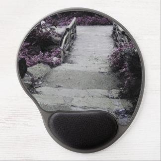Photo noire et blanche de pont de paysage tapis de souris gel