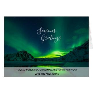 Photo Northern Lights Iceland Aurora Borealis Card
