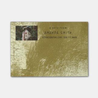 Photo Note Name Greenery Mint Metallic