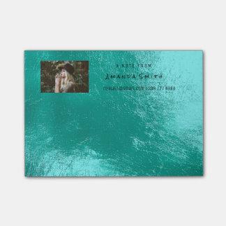 Photo Note Name Ocean Tiffany Aqua Metallic