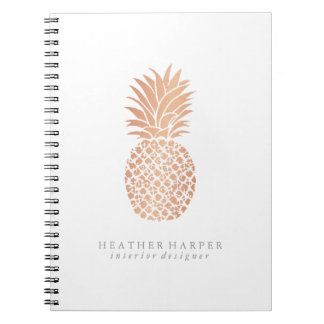 Photo Notebook - Rose Gold Pineapple