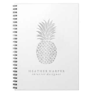 Photo Notebook - Silver Pineapple