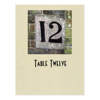 Photo number 12 table card
