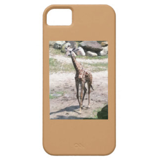 Photo of a baby giraffe walking in nature case for the iPhone 5