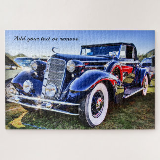 Photo of a highly polished vintage classic car: jigsaw puzzle