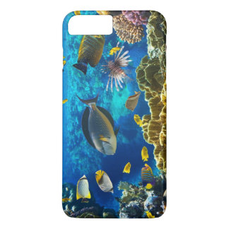 Photo of a tropical Fish on a coral reef iPhone 7 Plus Case