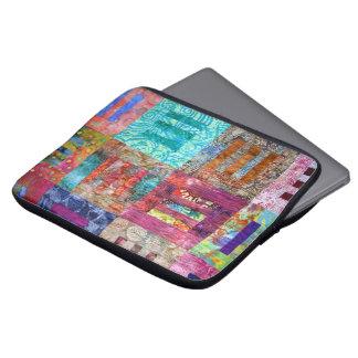 Photo Of Batik Quilt Squares Laptop Computer Sleeve