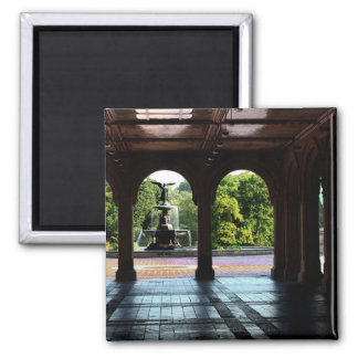 Photo of Bethesda Terrace in Central Park, NYC Square Magnet