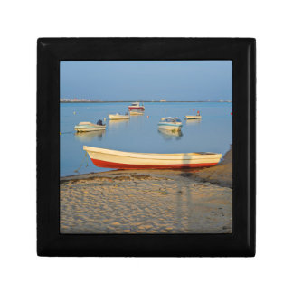 Photo of boats in bay at sunset in Portugal Gift Box