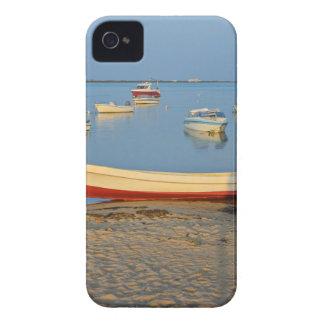 Photo of boats in bay at sunset in Portugal iPhone 4 Case-Mate Cases