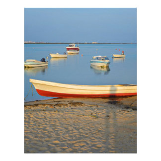 Photo of boats in bay at sunset in Portugal Letterhead