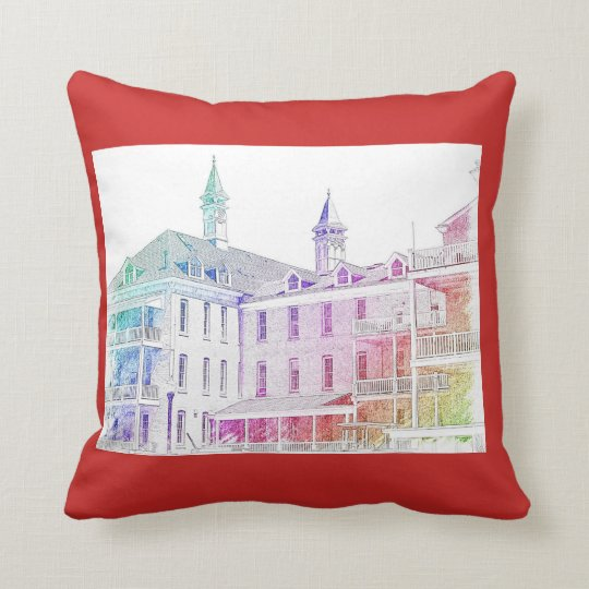 Photo of building in northern Mi. Throw Pillow