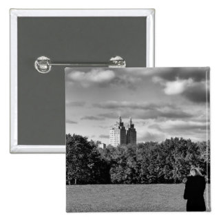 Photo of Central Park in Black and White Pins