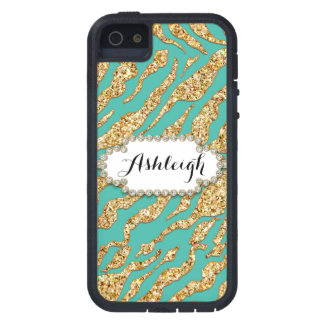 Photo of Gold Glitter Polka Dot Jewel Gem Frame iPhone 5 Cases