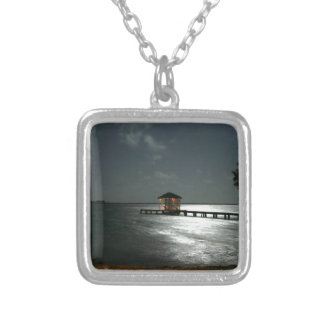 Photo of Moonlit Belize Cabana Silver Plated Necklace
