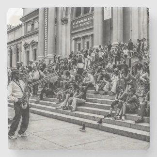 Photo of New York City Street Musician Performer Stone Coaster