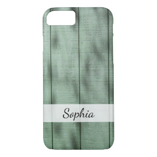 Photo of Old Green Barn Wood, Personalized Case-Mate iPhone Case