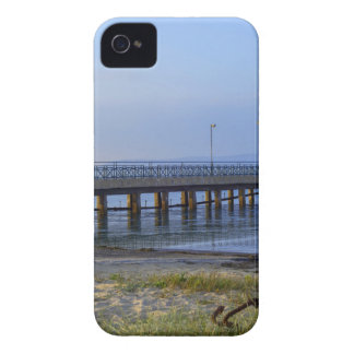 Photo of pier in sunset with anchor iPhone 4 Case-Mate case